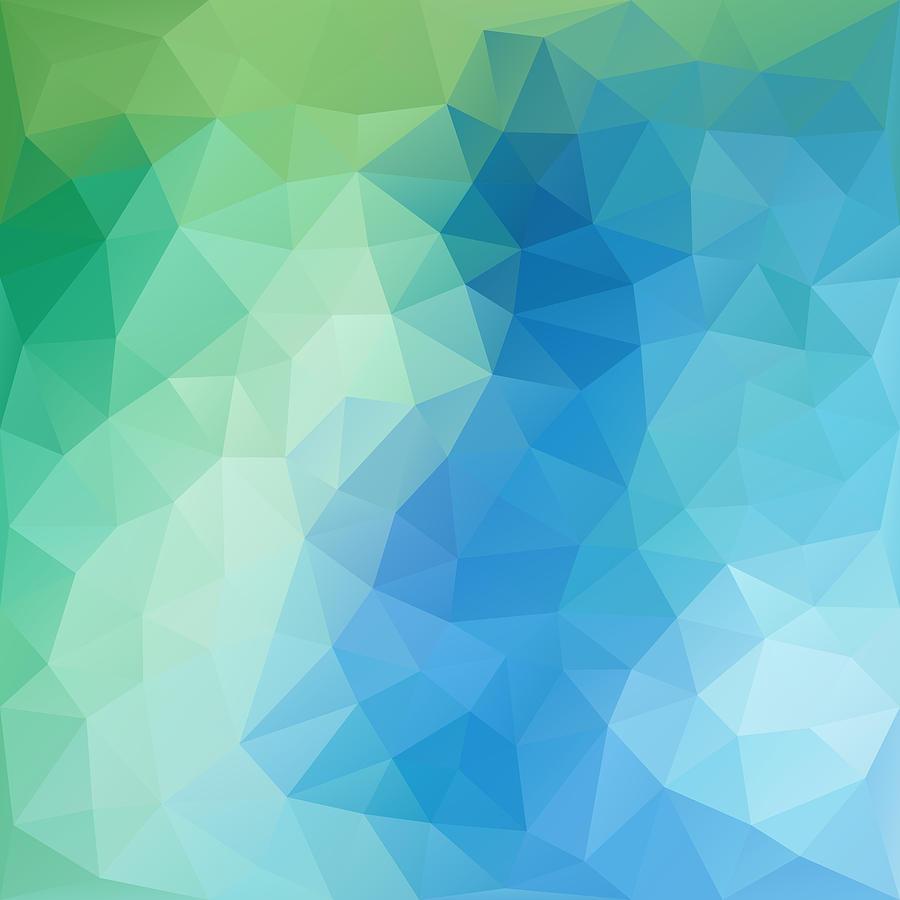 Geometric Digital Art - River Bank Geometric Design by Nessikk