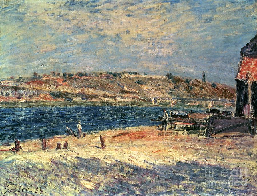 River Painting - River Banks at Saint-Mammes by Alfred Sisley