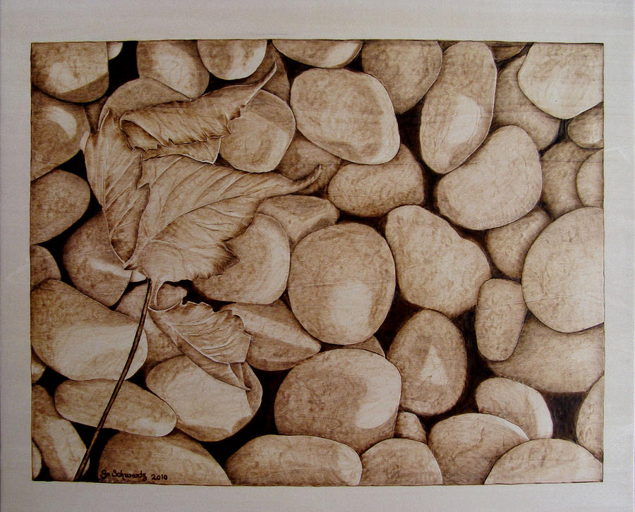 Pyrography Pyrography - River Bed by Jo Schwartz