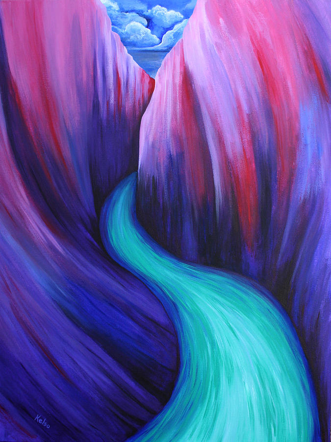 Canyon Painting - River by Bonnie Kelso