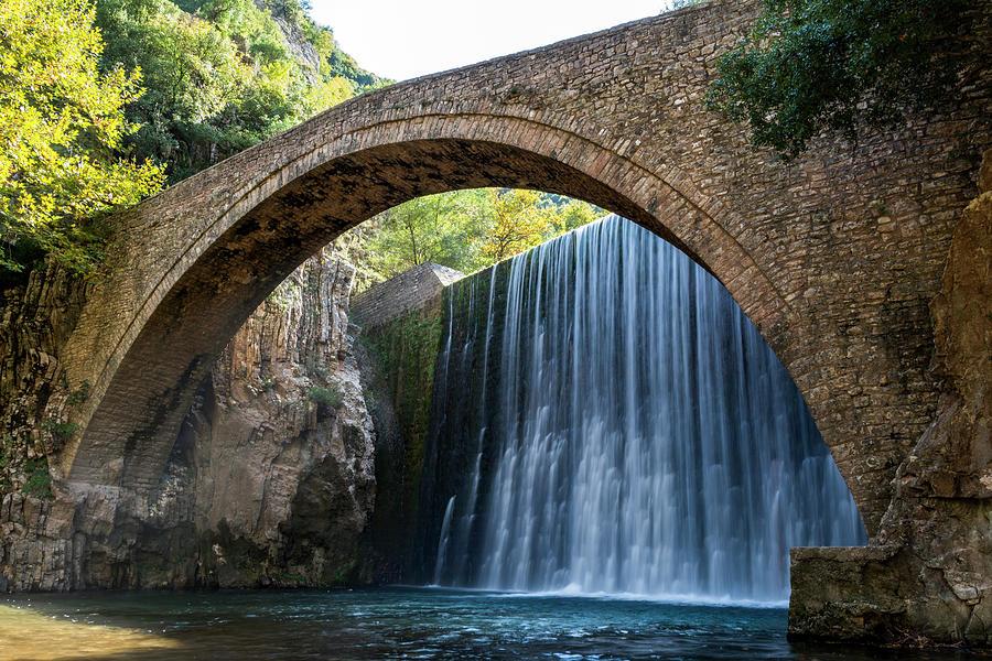 Bridge Photograph - River Bridge by Nikos Stavrakas