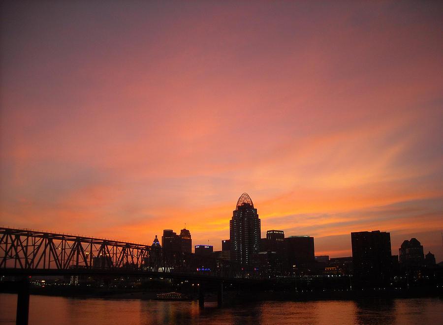 Cincinnati Photograph - River City by Peter  McIntosh