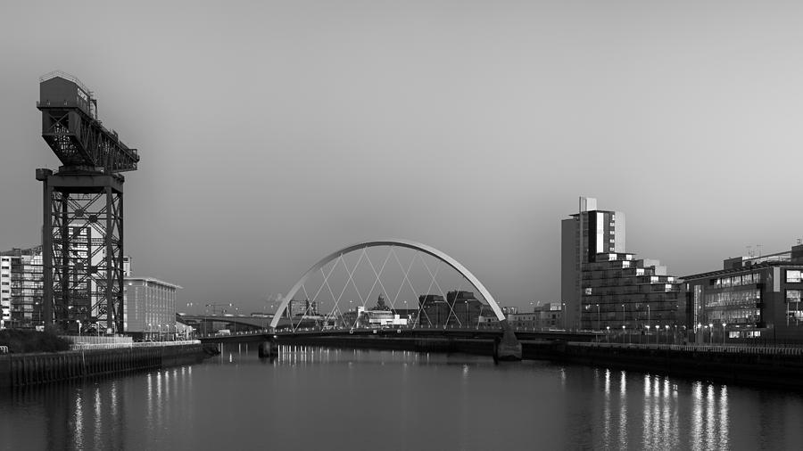 Finnieston Crane Photograph - River Clyde View by Grant Glendinning