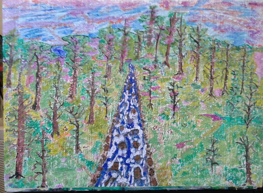 Landscape Painting Painting - River Dayz by Elizabeth Chapman