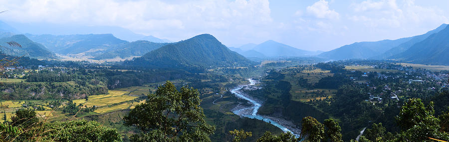 Landscape Photograph - River  Flowing From Mountain by Atul Daimari