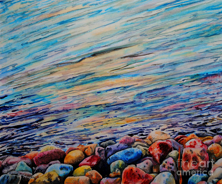 Rocks Painting - River Gems by Tracy Rose Moyers