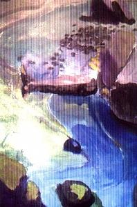 Landscape Painting - River Goddess  by Harry  Weisburd