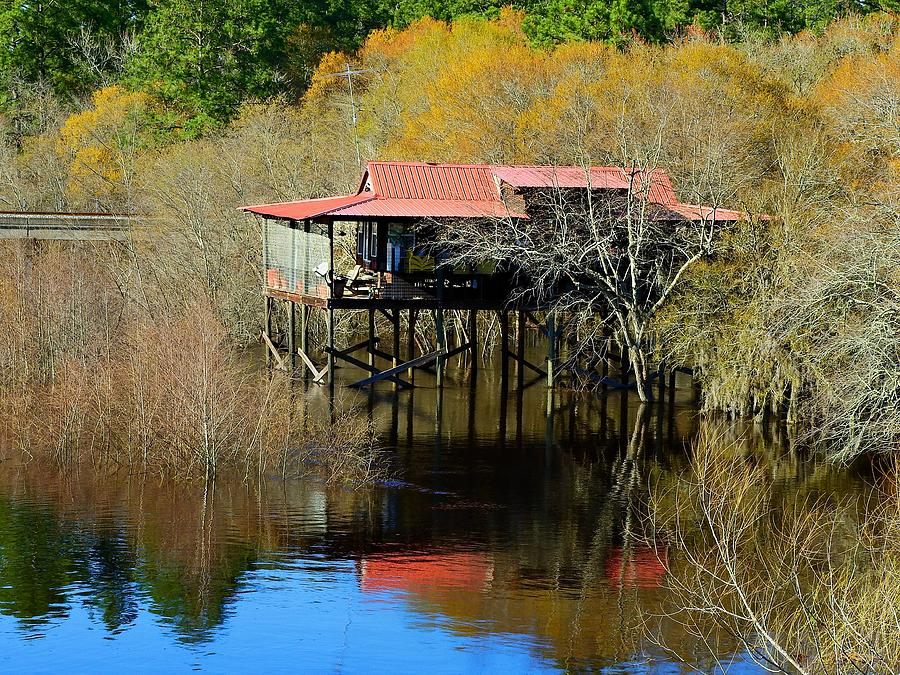 Us 82 Photograph - River House by Laura Ragland