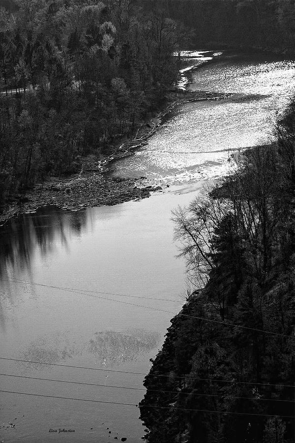 River Photograph - River In Black And White by Lisa Johnston