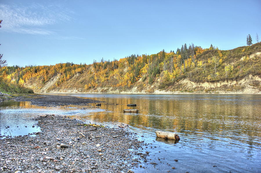 River in the Fall by Jim Sauchyn