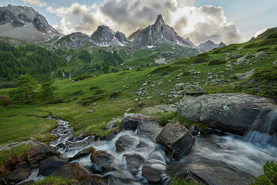 Courmayeur Photograph - River In The French Alps by Jon Glaser