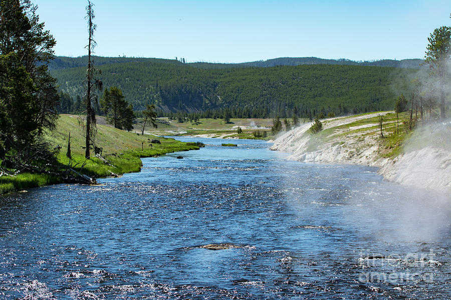 Yellowstone Photograph - River In Yellowstone by Eric Killian