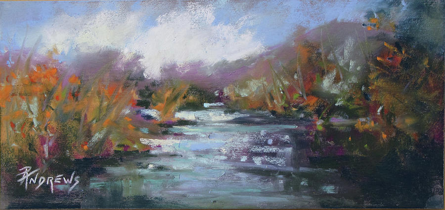 Landscape Painting - River Jewels by Rae Andrews