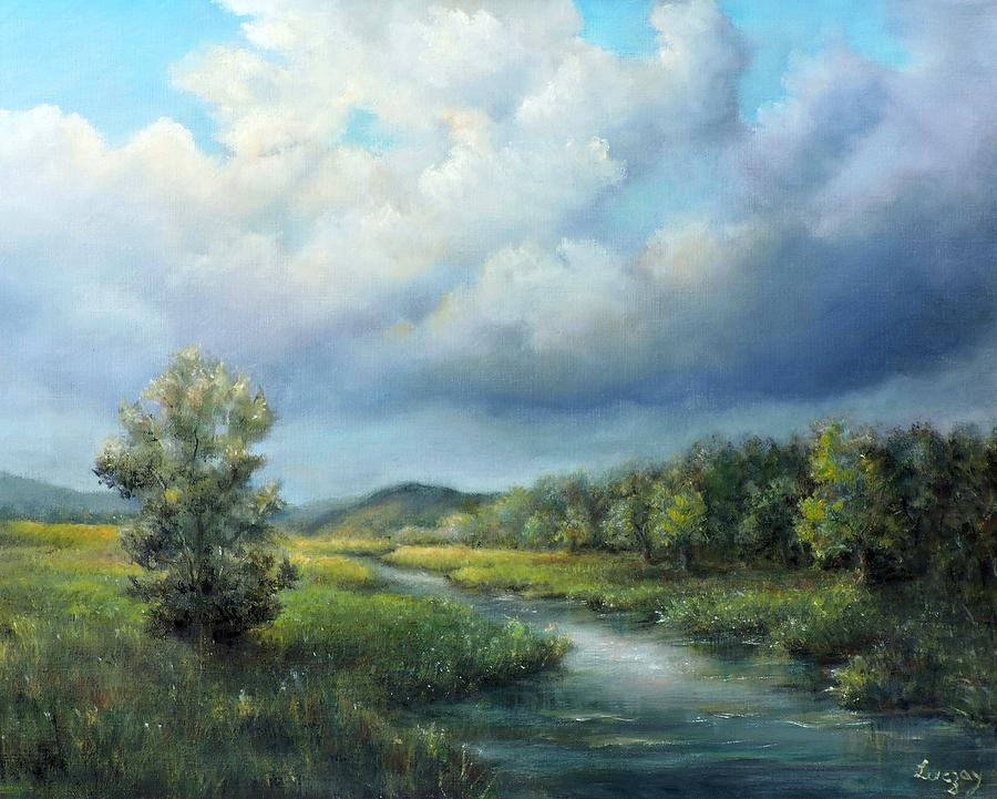 River landscape spring after the rain by Katalin Luczay
