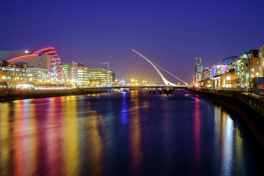 City Photograph - River Liffey In Dublin At Dusk by Jose Maciel