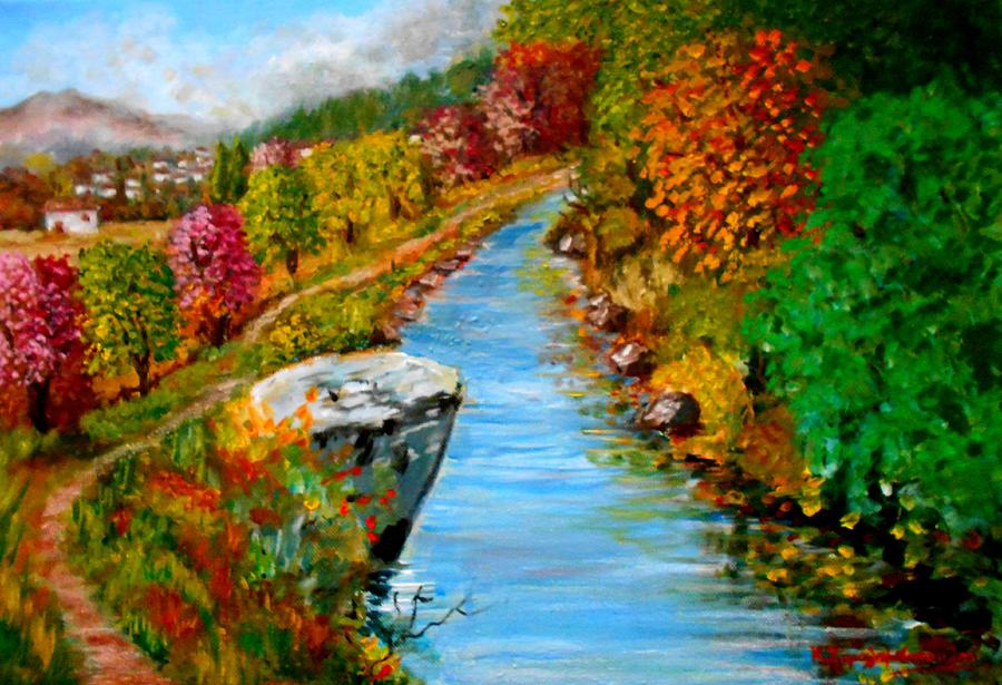 River Lousios Painting