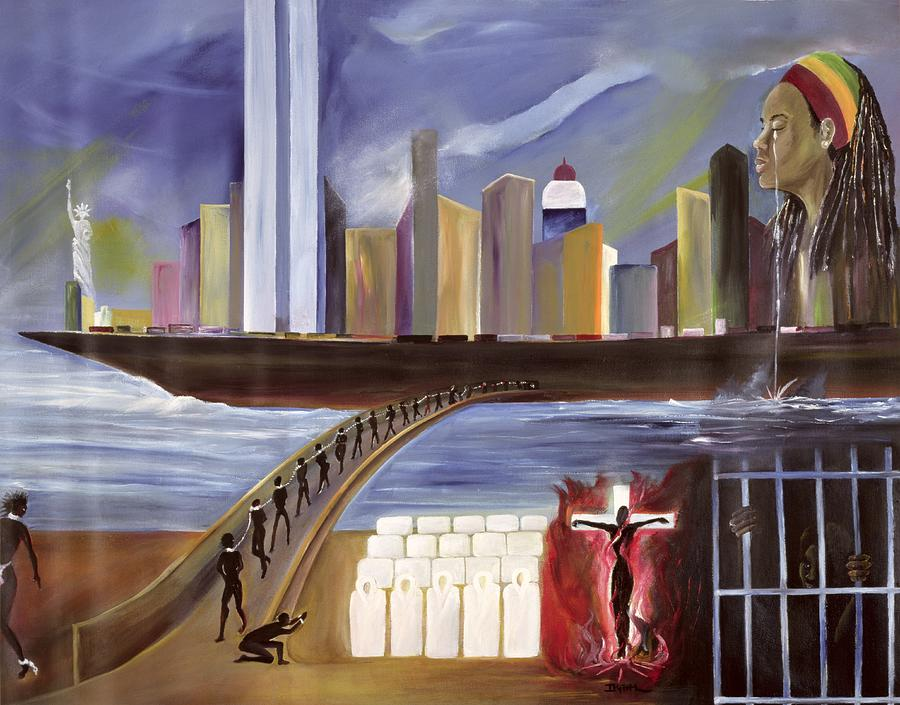 Crossing Painting - River Of Babylon  by Ikahl Beckford