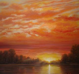 Mississippi River Painting - River Of Gold by Jerrie Glasper