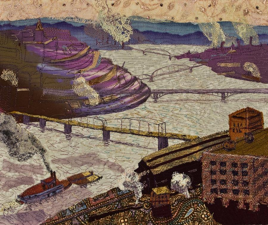 Pittsburgh Tapestry - Textile - River Of Industry by Martha Ressler