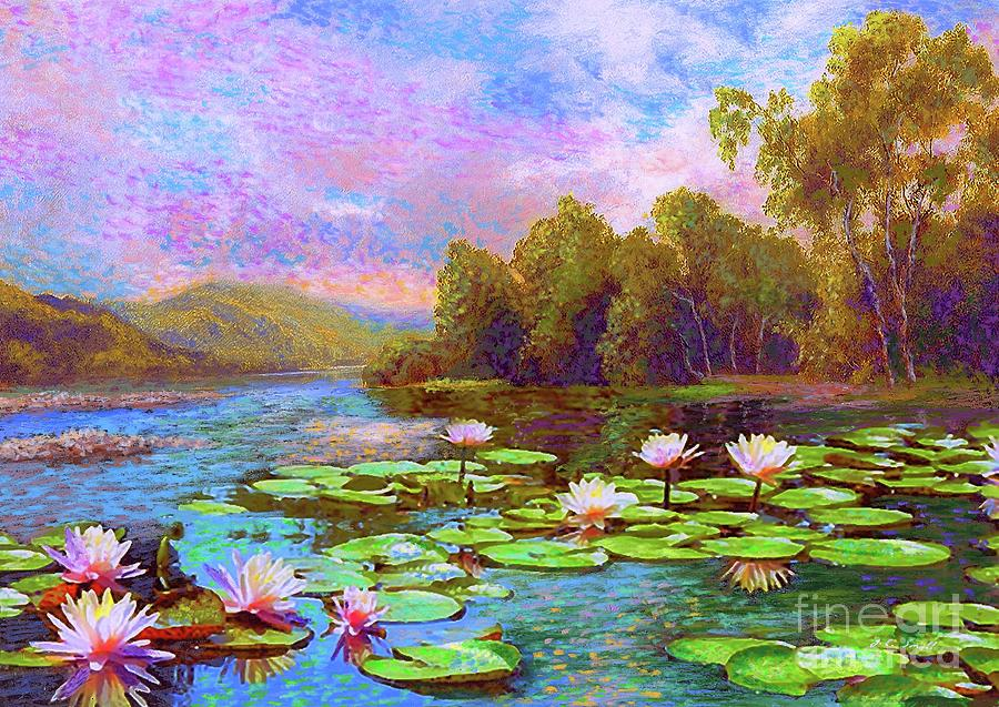 The Wonder Of Water Lilies Painting