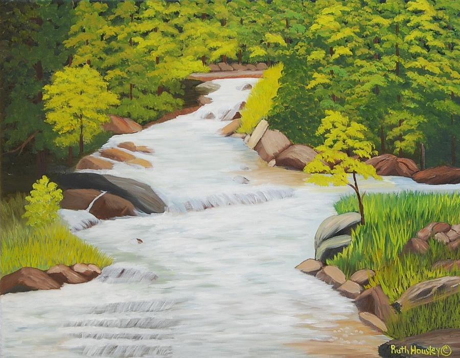 Landscape Painting - River Of Living Water by Ruth Housley - River Of Living Water Painting By Ruth Housley