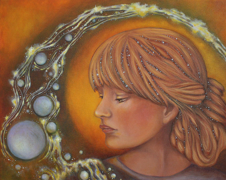 Divine Feminine Painting - River Of Truth by Christina Gage