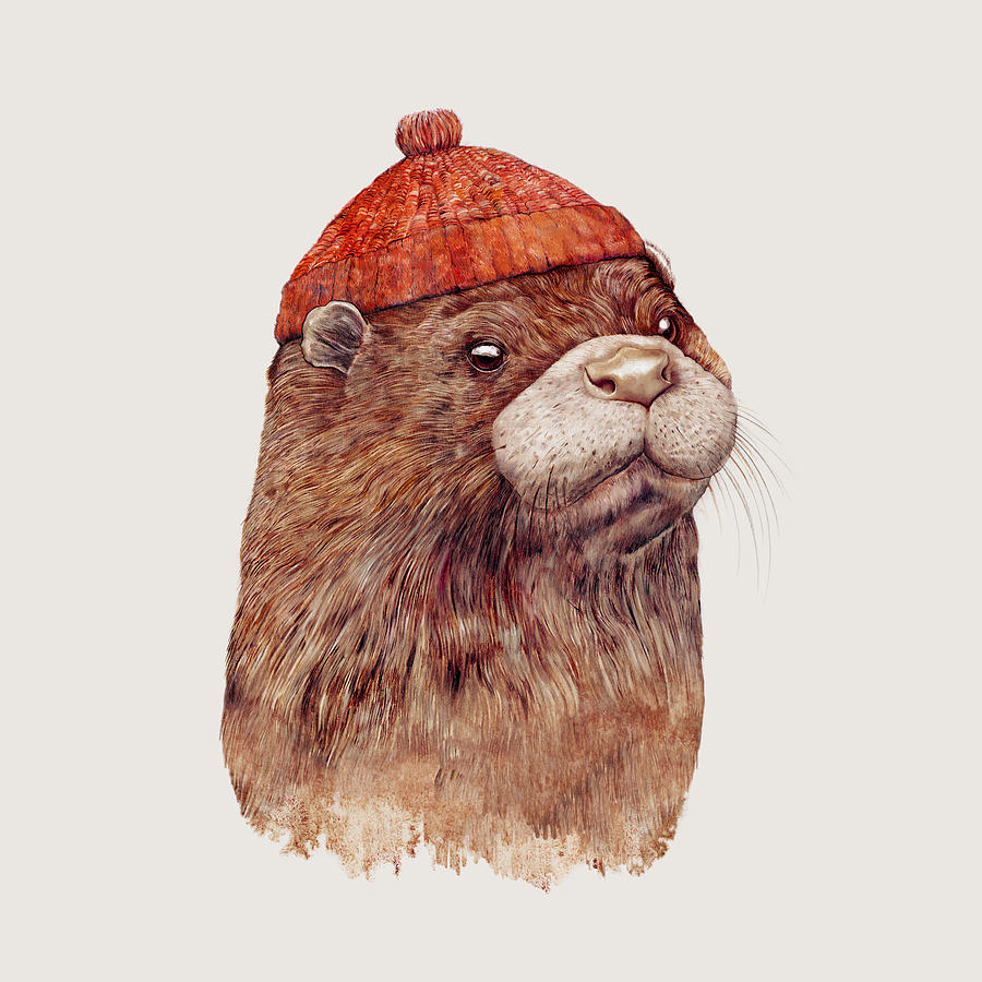 cfe0d5ab5f55 River Otter Painting by Animal Crew