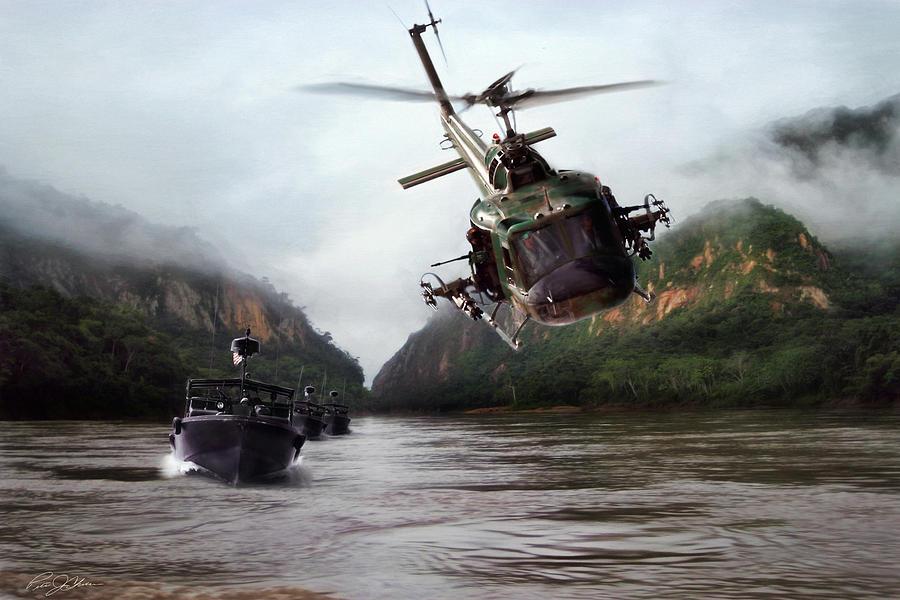River Patrol Digital Art By Peter Chilelli