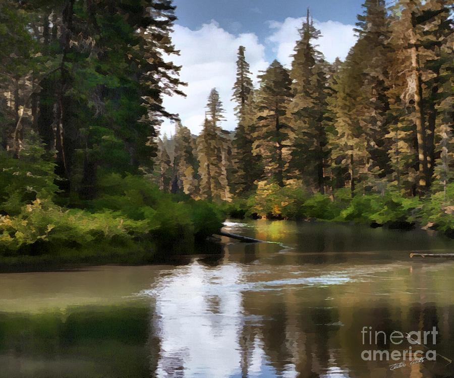 Miller Creek Painting - Millers Creek Painterly by Peter Piatt