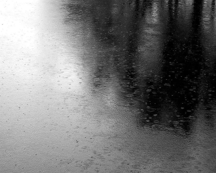 River Photograph - River Rain  Naperville Illinois by Michael Bessler
