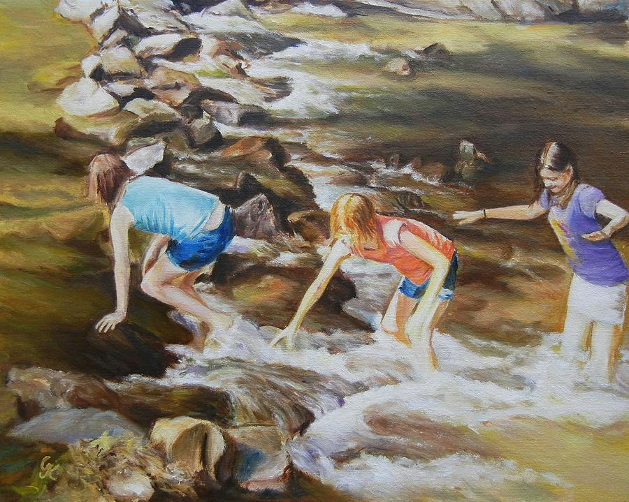Figurative Painting - River Rats by George Kramer