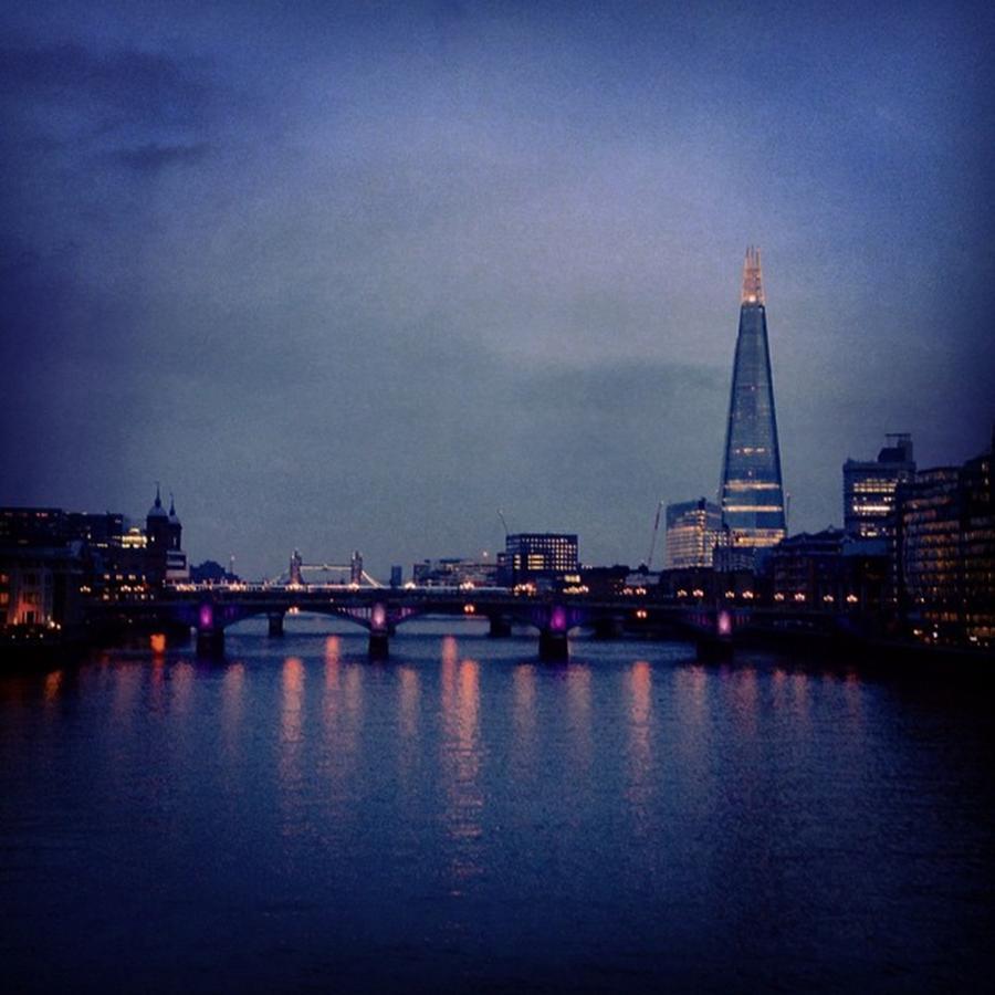 Shard Photograph - River Reflections #london #skyline by Louise McAulay
