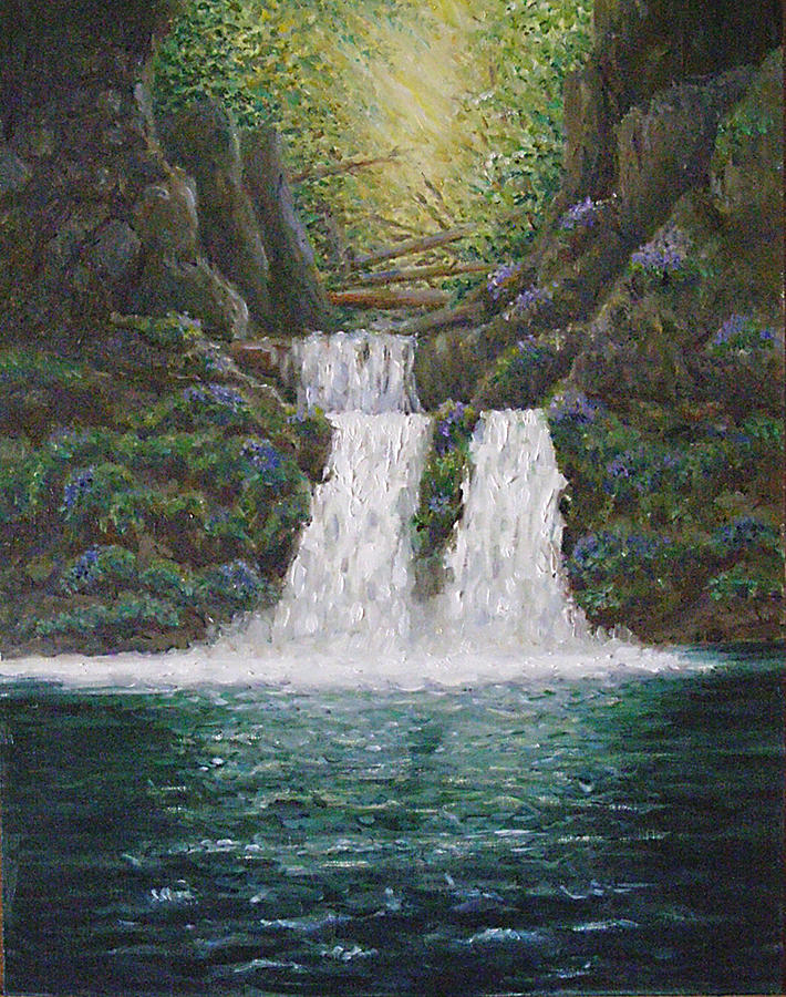 Nature Painting - River Reverie by Deborah Dallinga
