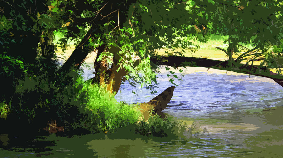 River Digital Art - River Ripple Voices by Charlie Spear