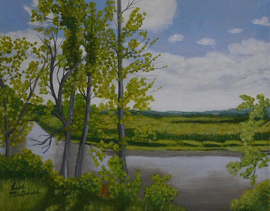 Landscape Painting - River Road by Lisa MacDonald