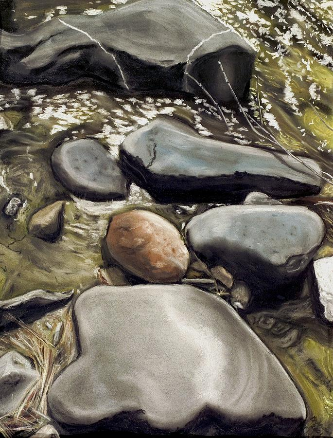 River Rock Painting - River Rock Formations by Brenda Williams