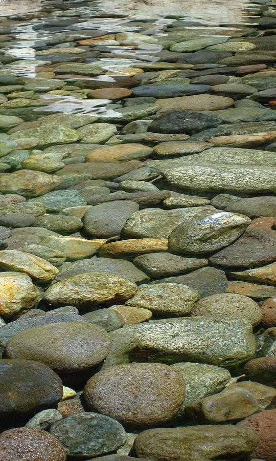 Cool Photograph - River Rock by Sherry Clark