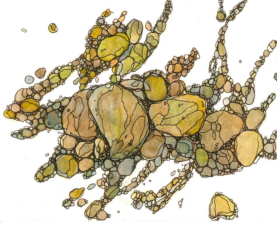 Rock Painting - River Rocks 2 by Katie Ree