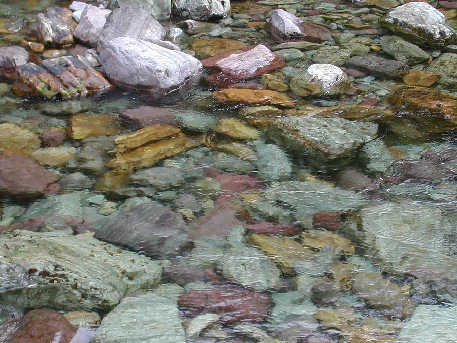 Montana Photograph - River Rocks by Lisa Patti Konkol