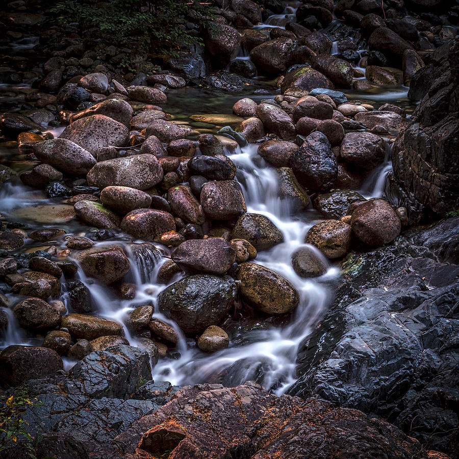Long Exposure Photograph - River Rocks by Rod Sterling
