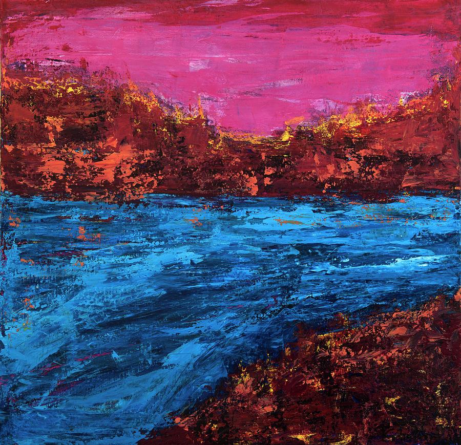 Canvas Print Painting - River Run by K Batson Art