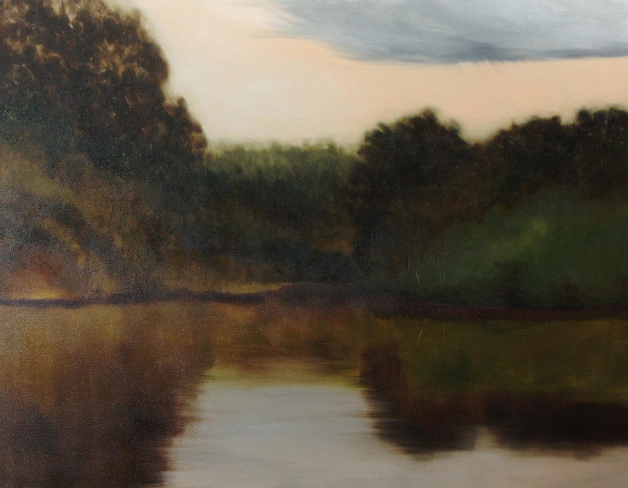 Landscape Painting - River Scene by Anne Bradford