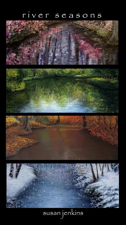 Landscape Pastel - River Seasons by Susan Jenkins