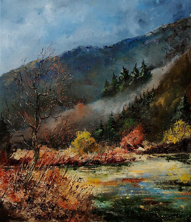 River Painting - River Semois by Pol Ledent