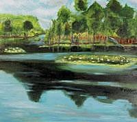 River Painting - River Series I by Glynnis Sorrentino