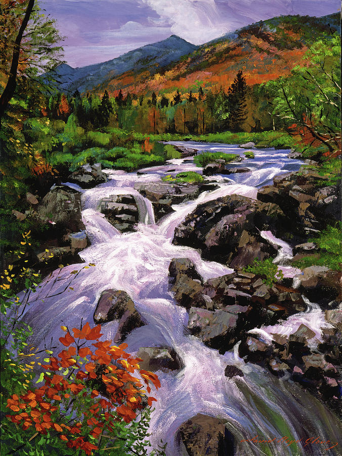 Rivers Painting - River Sounds by David Lloyd Glover