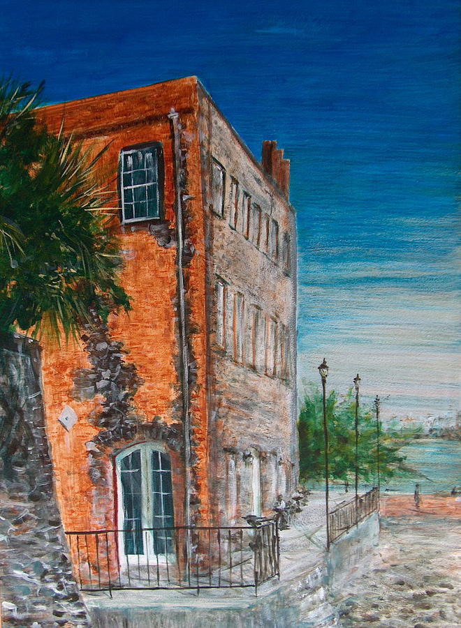 Savannah Painting - River Street by Pete Maier