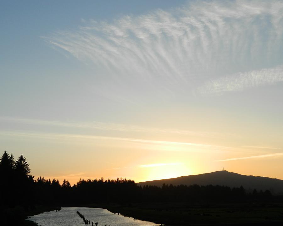 River Sunset Photograph