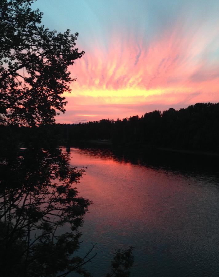 River sunset by Shari Chavira