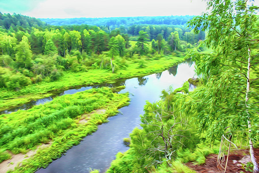 Nature Digital Art - River by Tatiana Tyumeneva